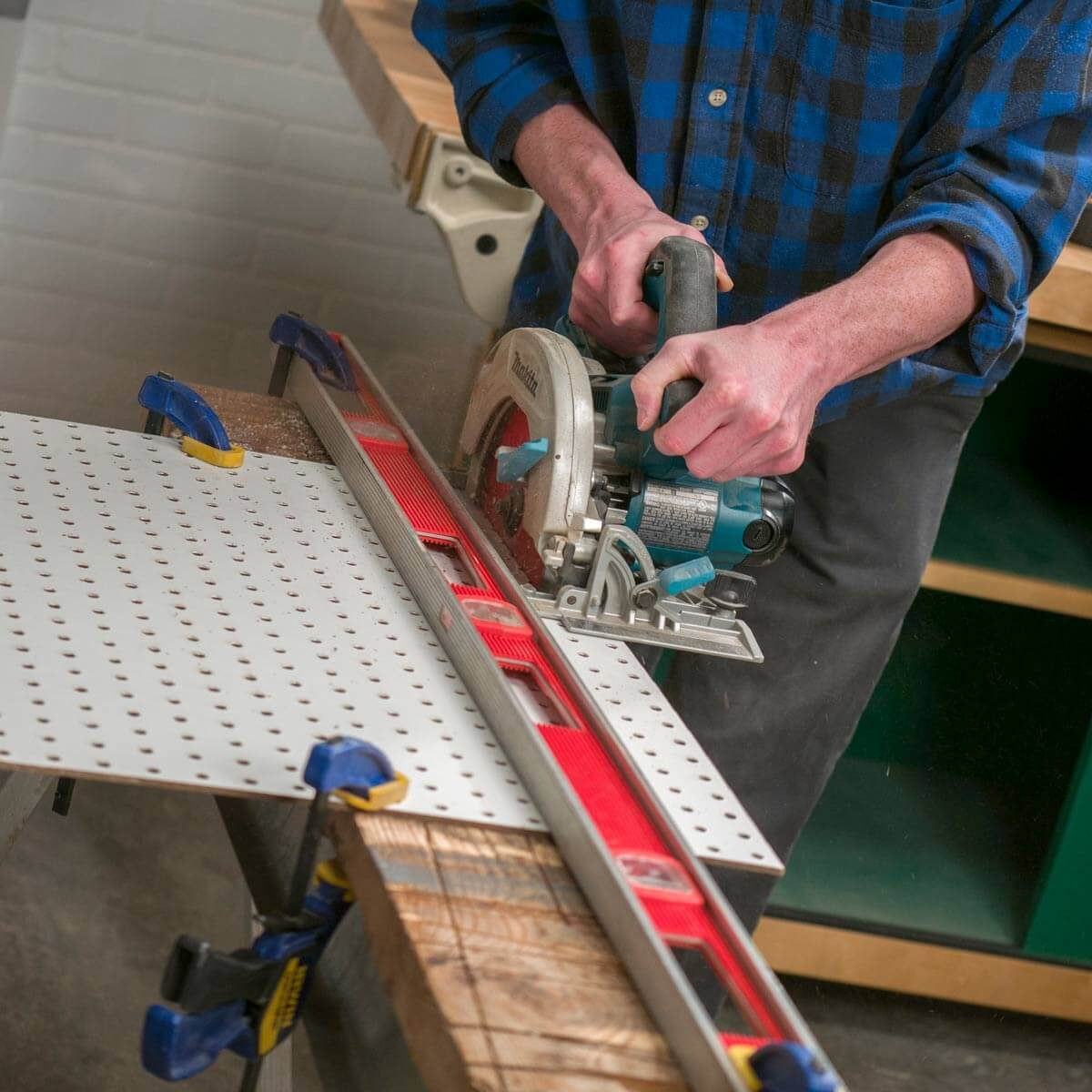 Fold Up Workbench Pegboard