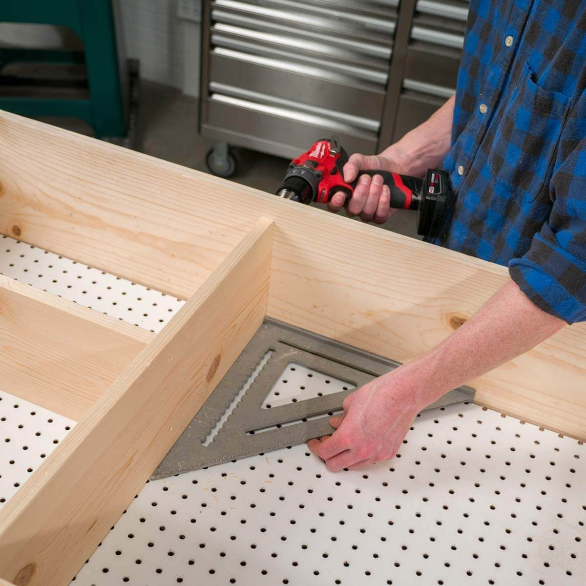 Fold Up Workbench Add Shelves