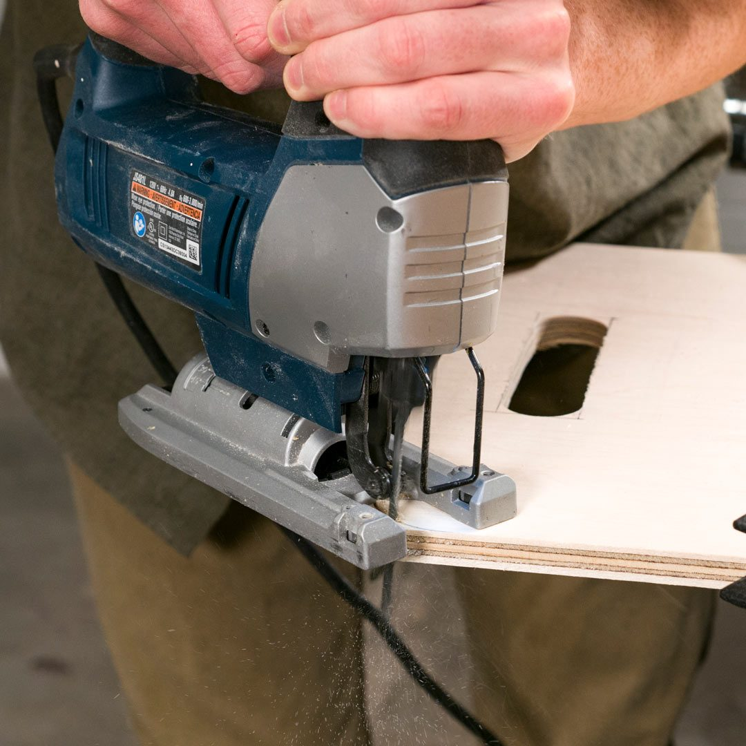 Stacking Totes Cut Handle Holes