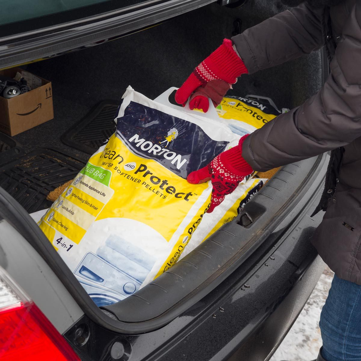 HH Salt Bags In Car trunk