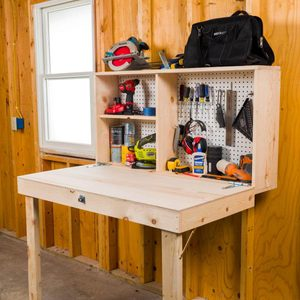 Saturday Morning Workshop: How To Build a Fold Down Workbench