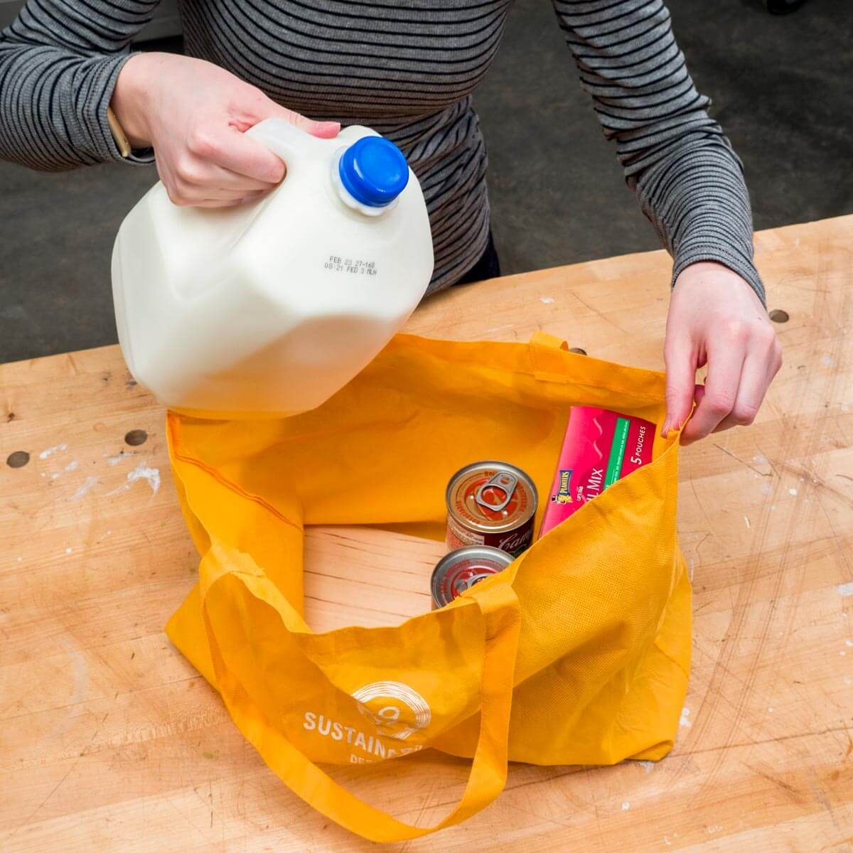 Sturdier reusable grocery bag