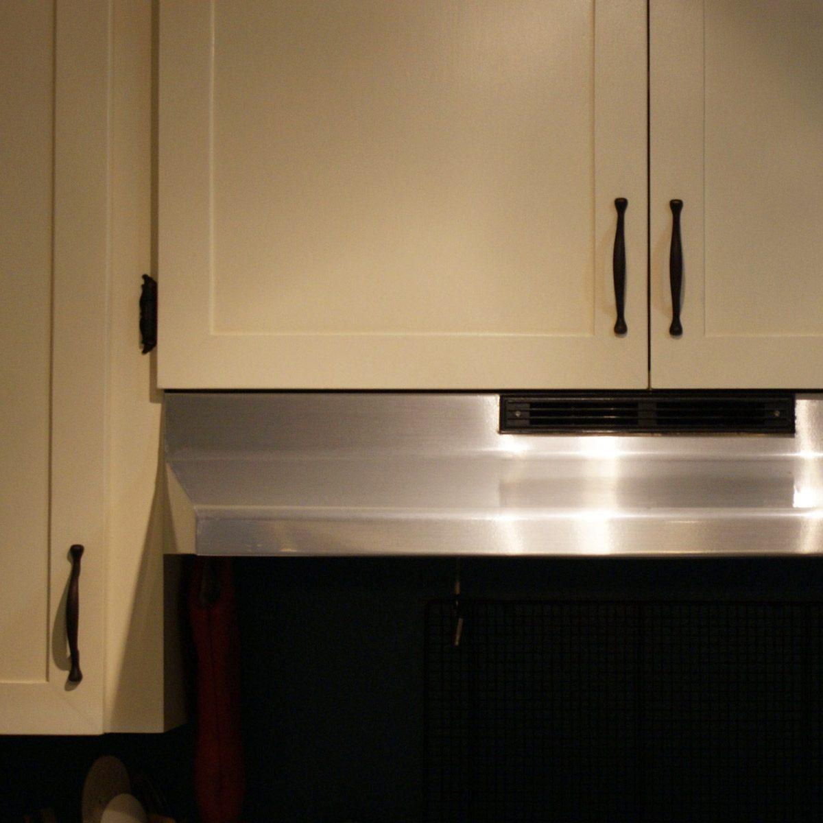 Stainless steel faux range hood