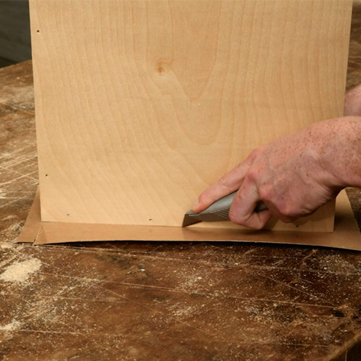 Trim Veneer With A Utility Knife
