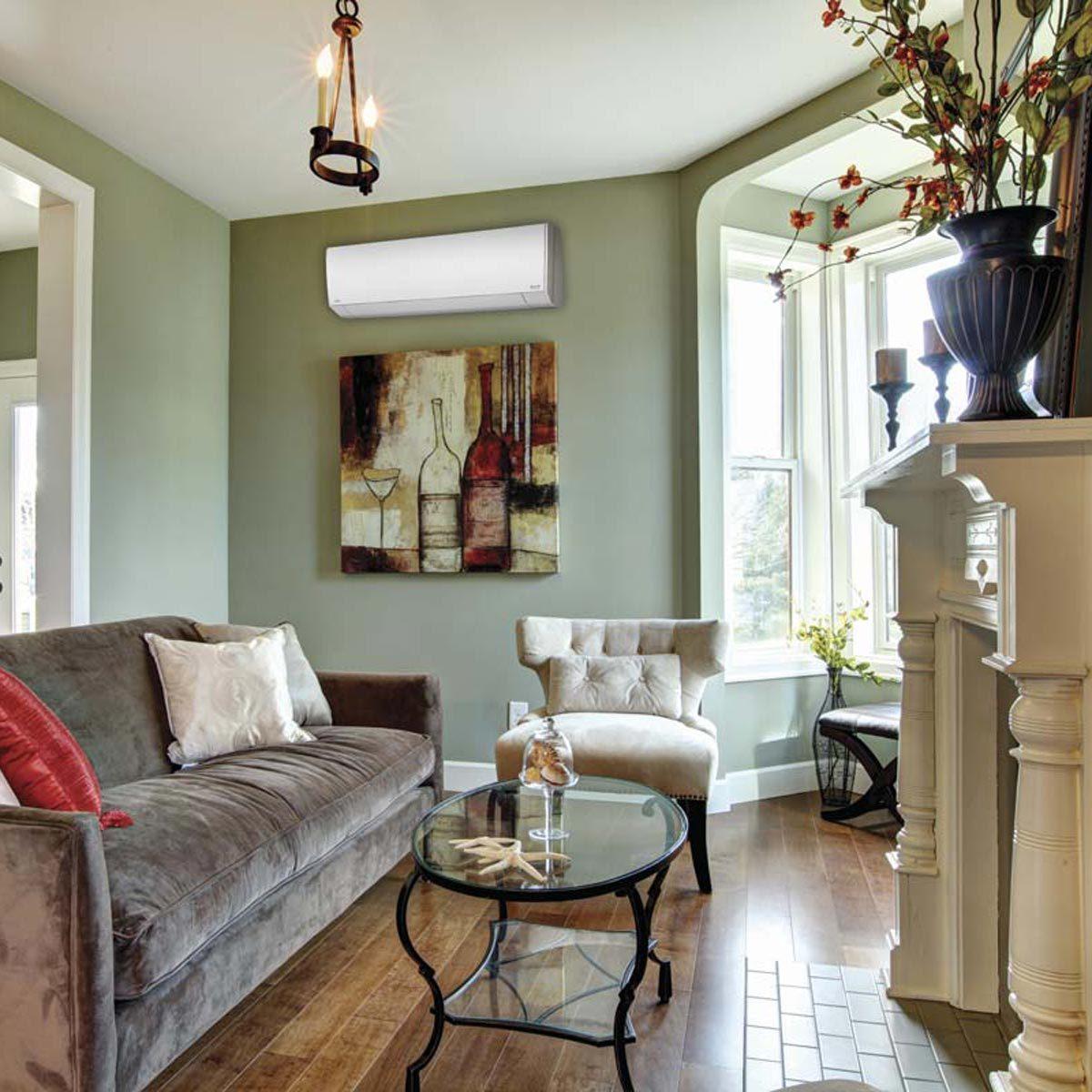 Green Walls Living Room