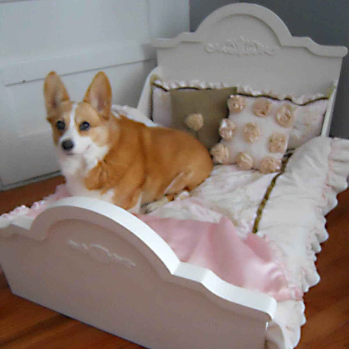dog bed with headboard
