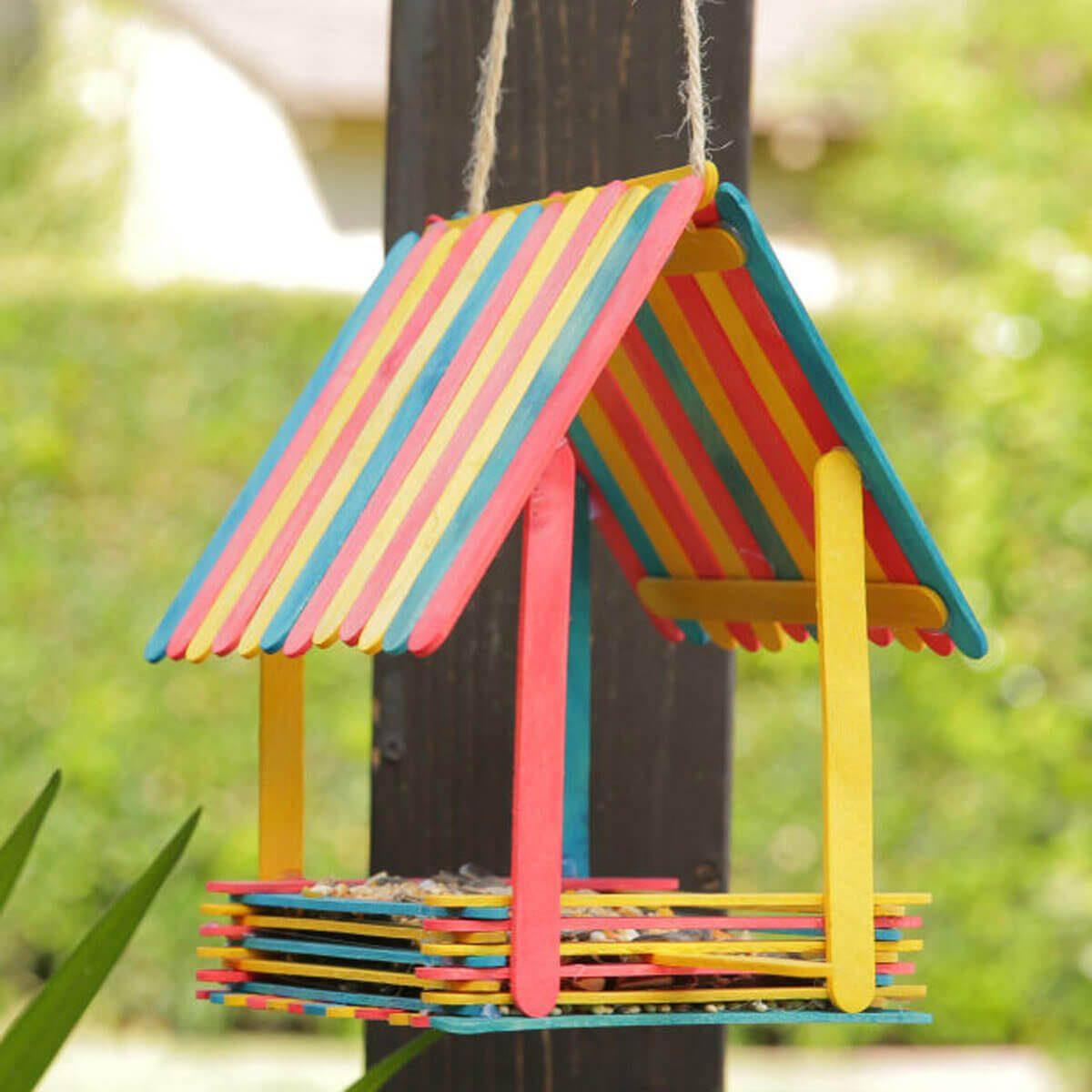 Popsicle Stick Birdhouse