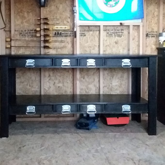 simple workbench with added storage