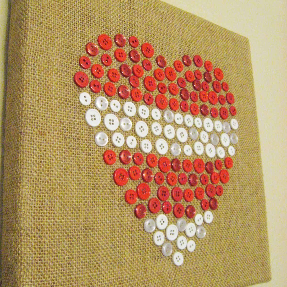 button art heart