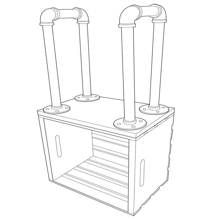 crate end table add legs to base of crate