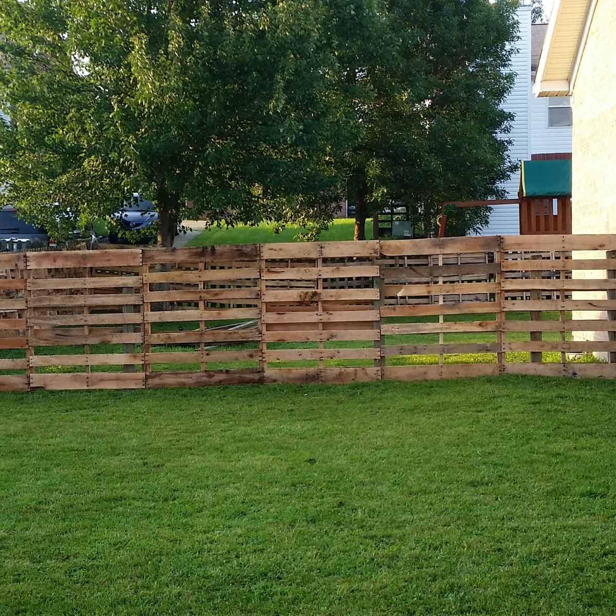 Repurposed Pallet Fence