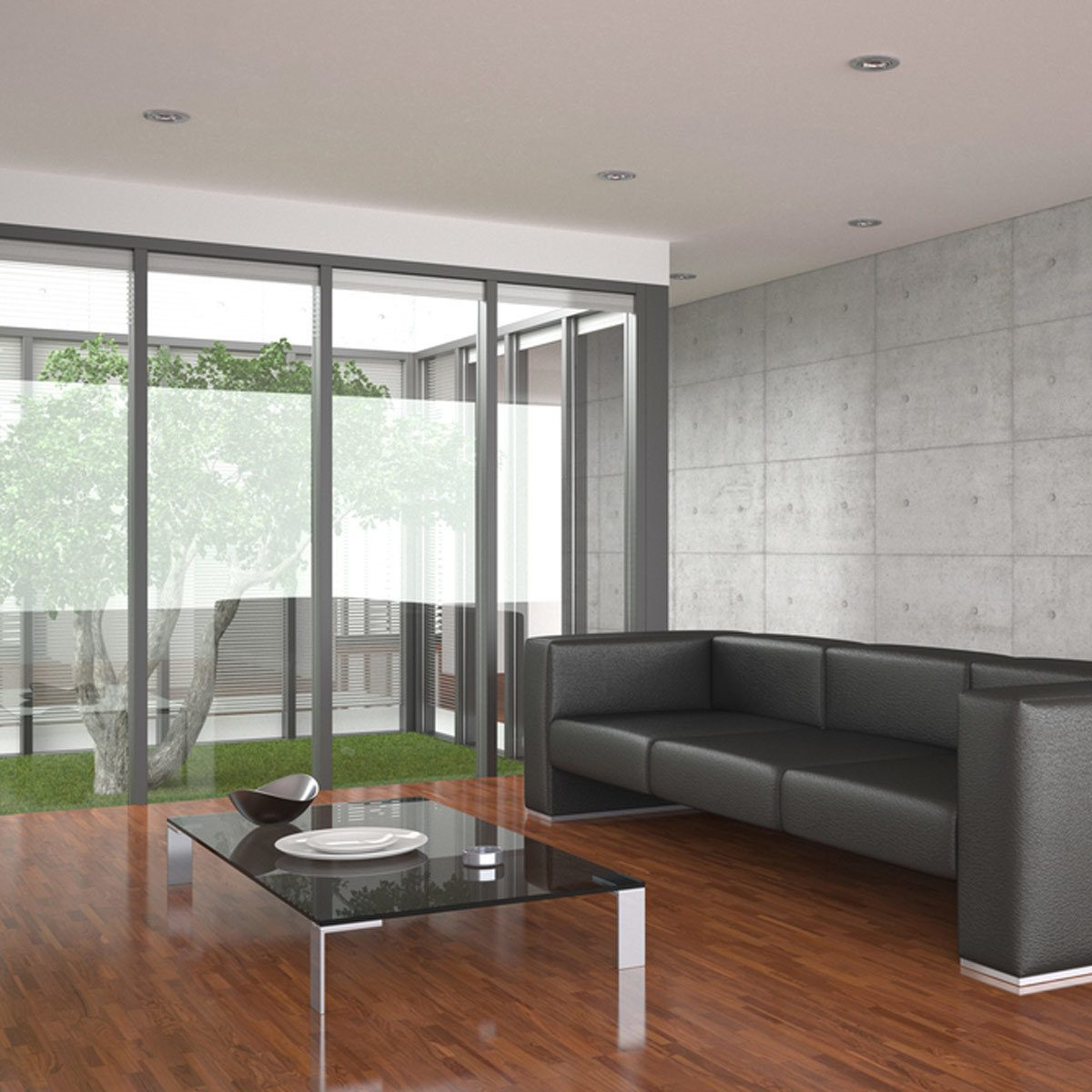 Glass and Steel living room