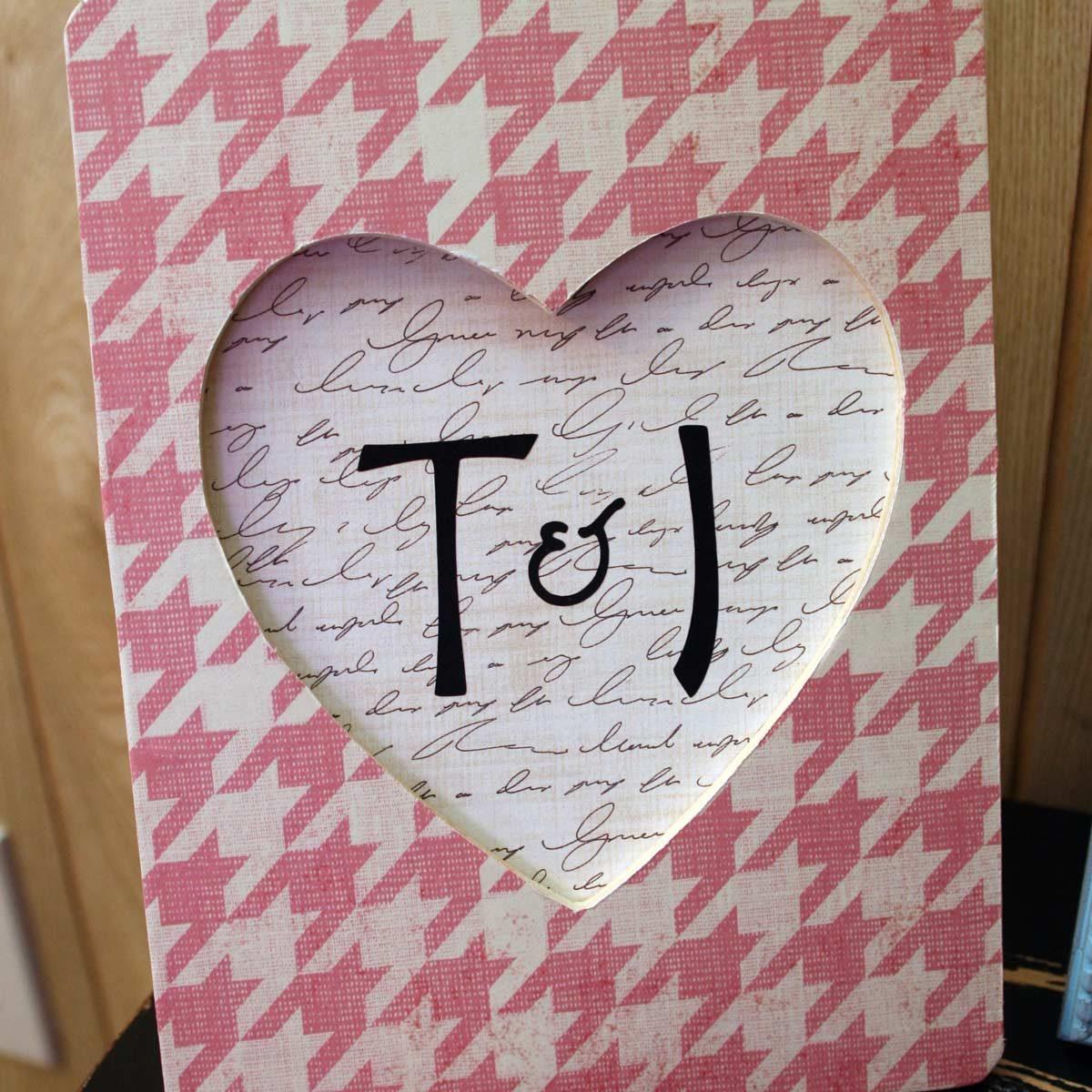 diy frame heart shaped