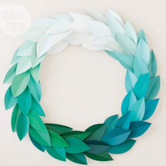 diy wreath paint samples chip