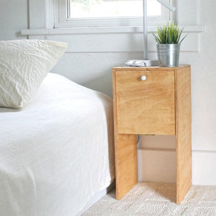 Easy, Affordable and Stylish Plywood Nightstand