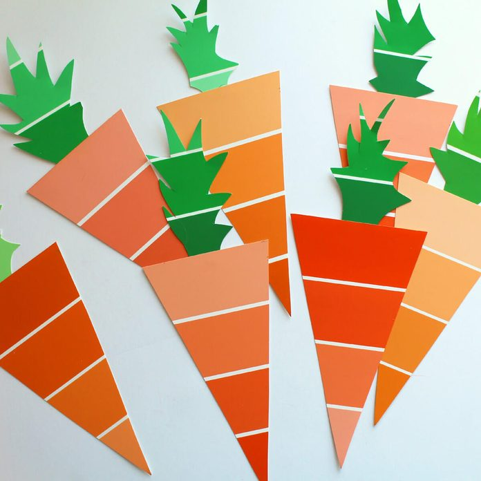 Paint Sample Spring Decorations Eater Garland Carrots