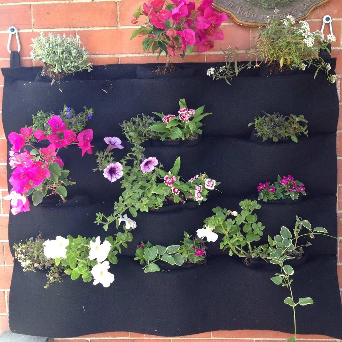 felt flower wall