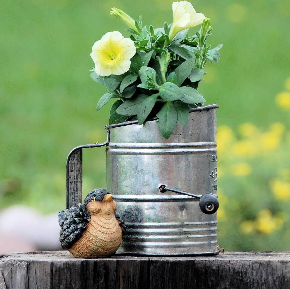Flour Sifter Flower Pot