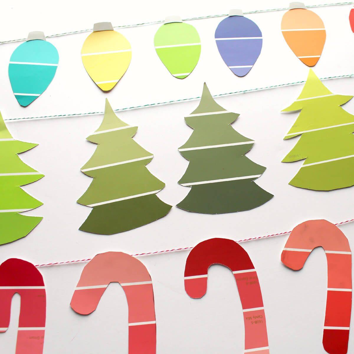 Paint Sample Christmas Garland