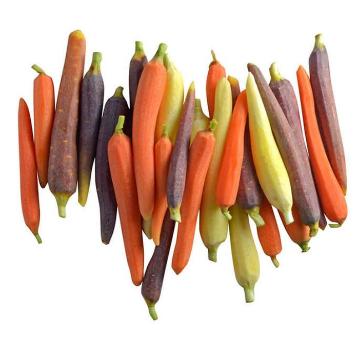 Fresh Peeled Rainbow Carrots