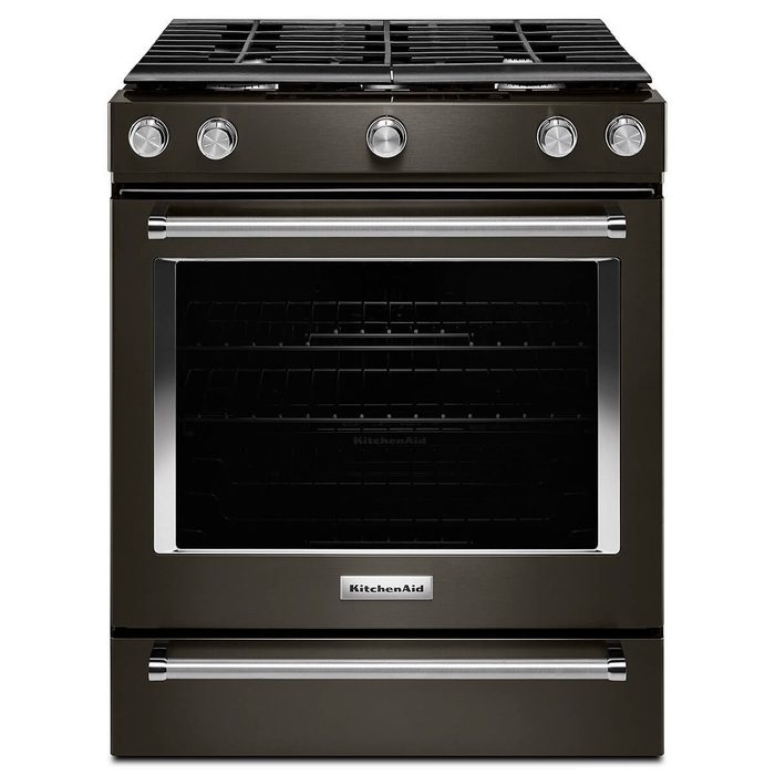 kitchen aid black stainless oven