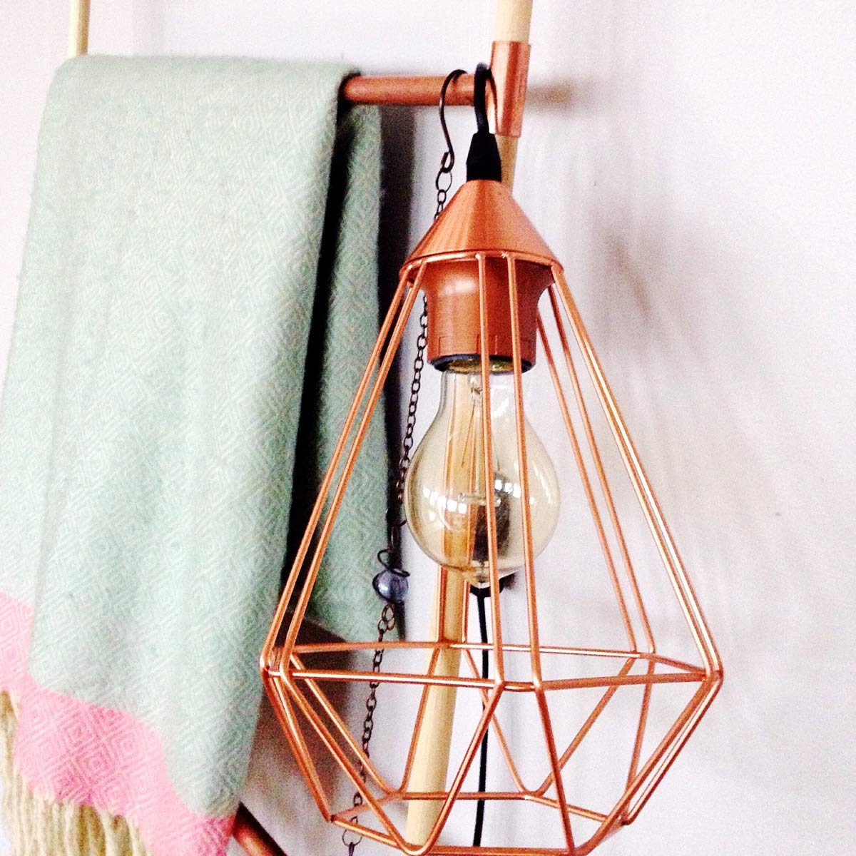 copper geometric lampshade