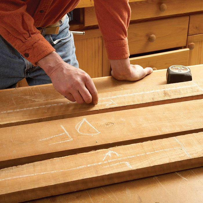 Laying out the lumber and labeling it   Construction Pro Tips