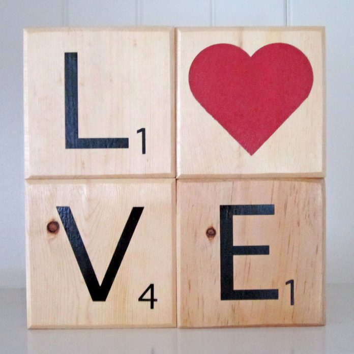 love blocks stacked scrabble