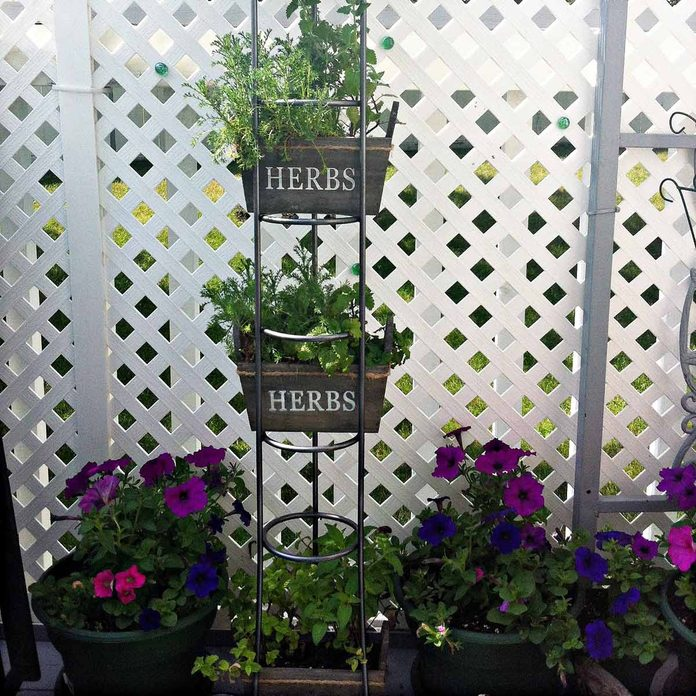 metal garden flower tower