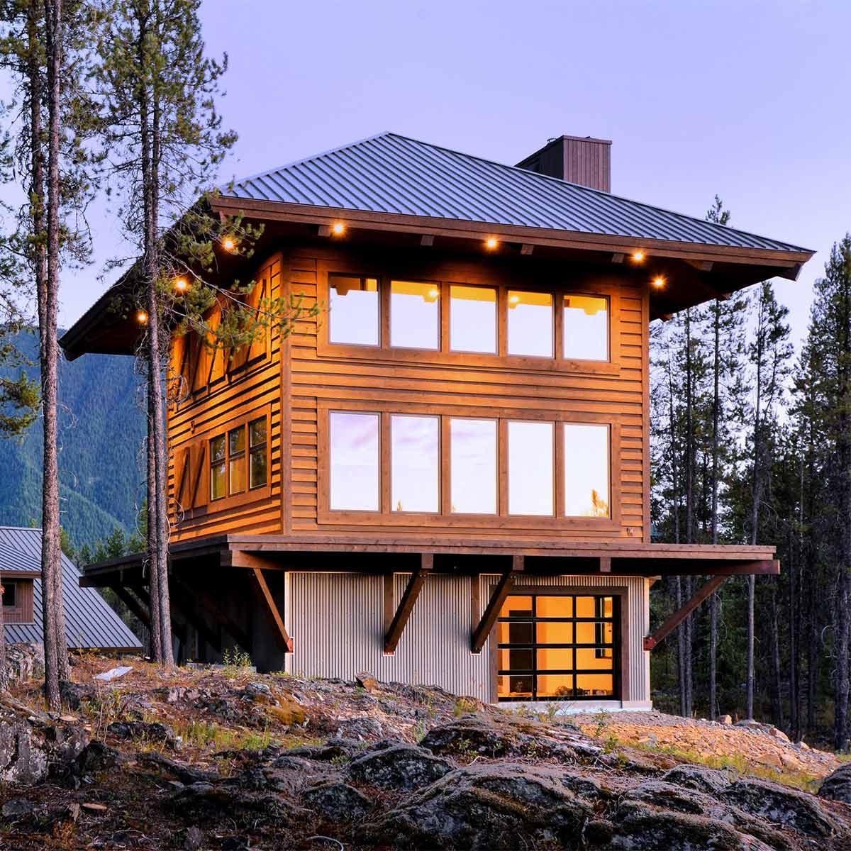 montana log cabin