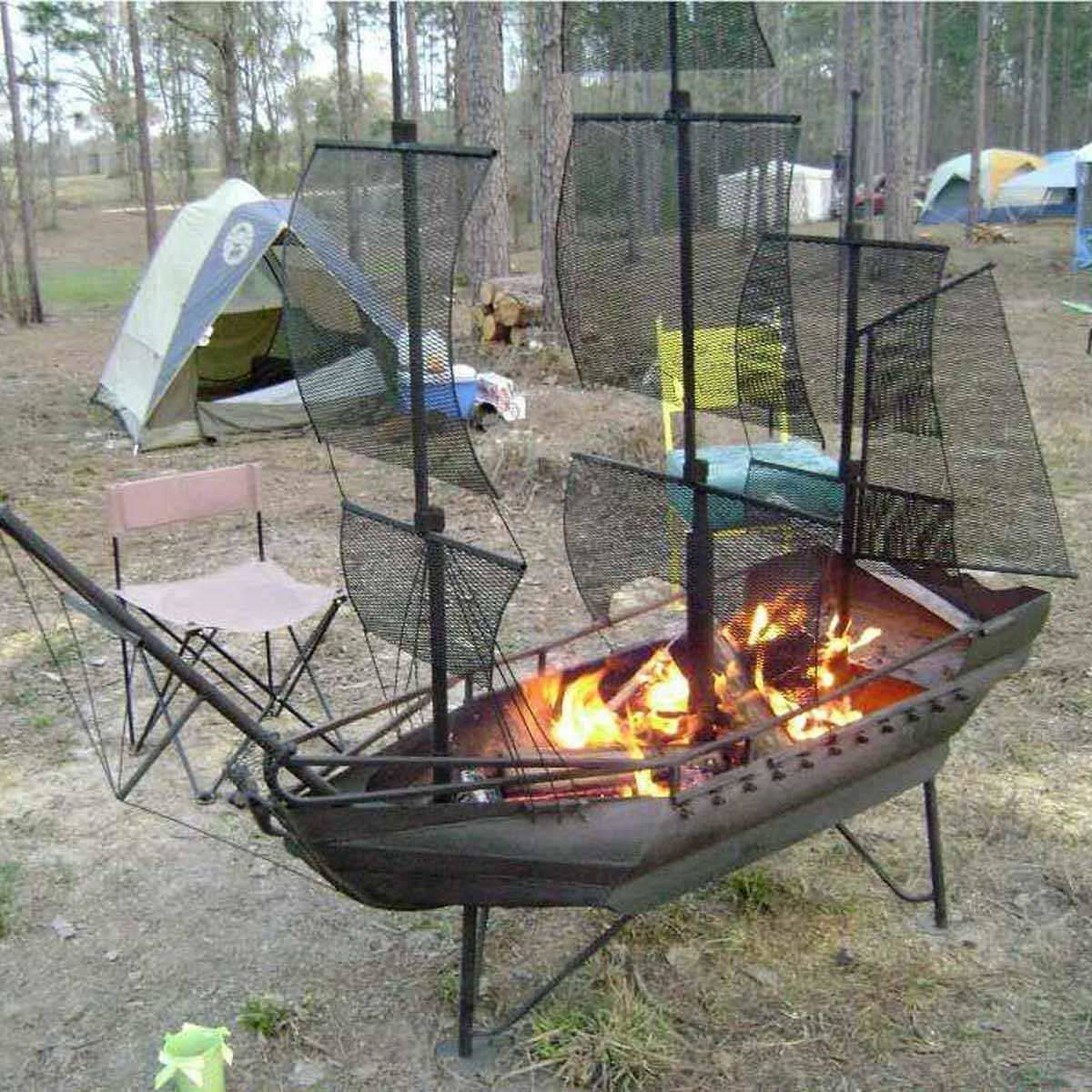 pirate ship fire pit