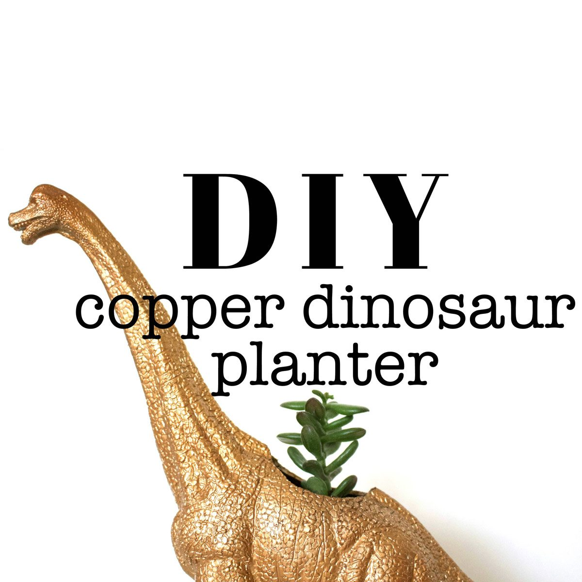 DIY Copper Dinosaur Planter