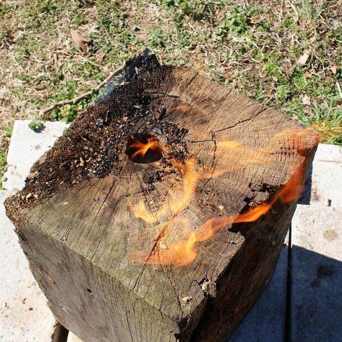 Swedish Torch Log fire pits