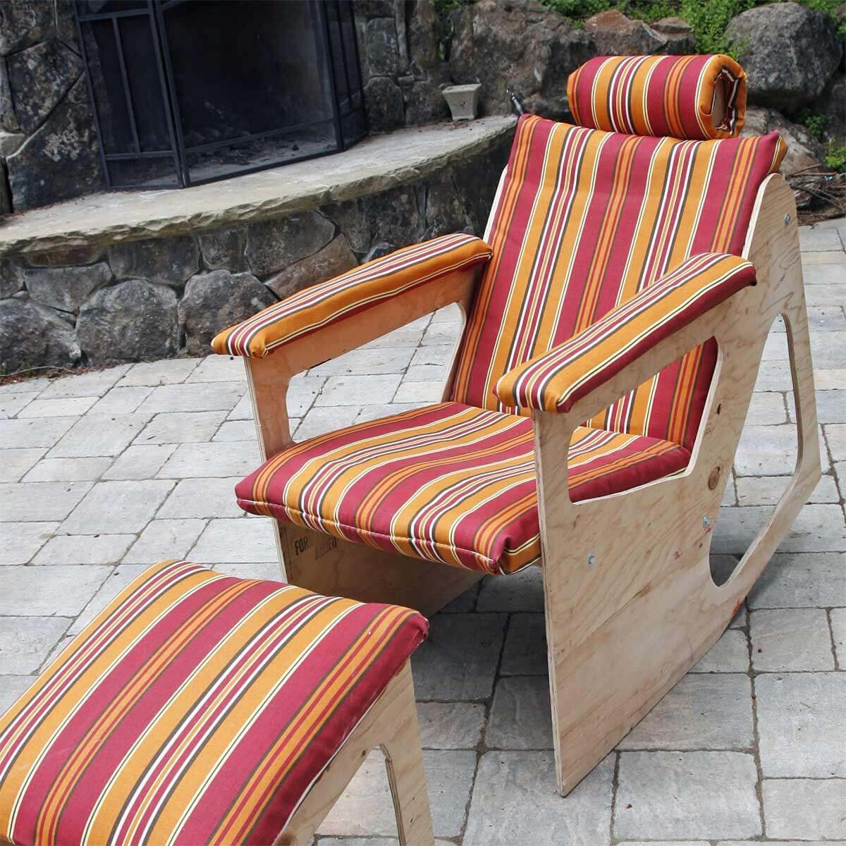 Plywood Rocker/Recliner