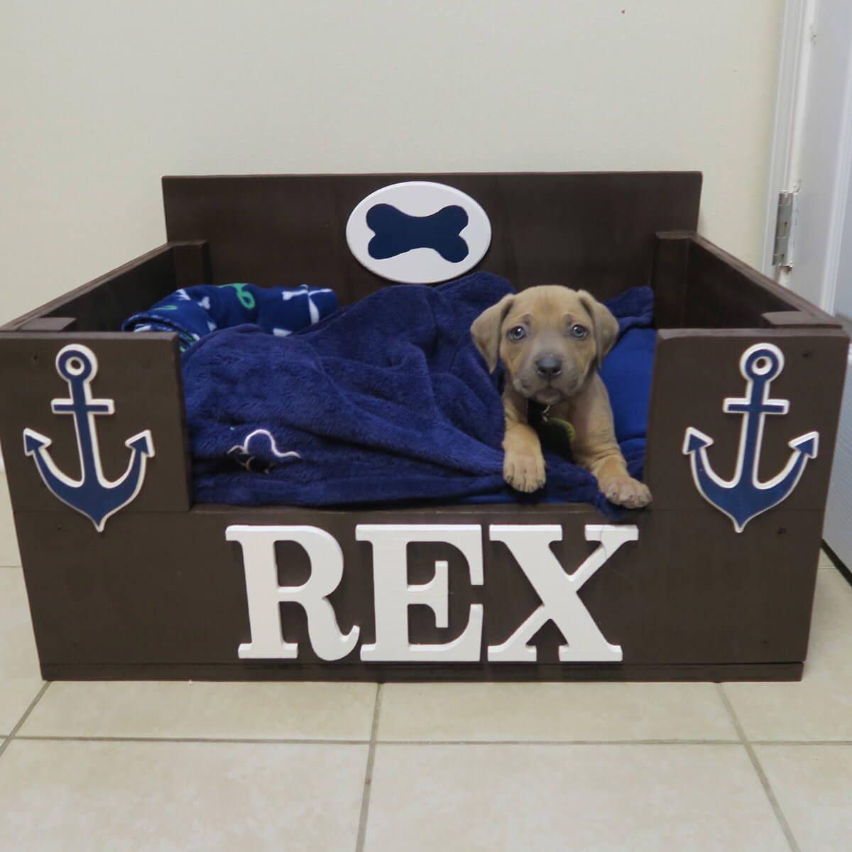 Scrap Wood Dog Bed