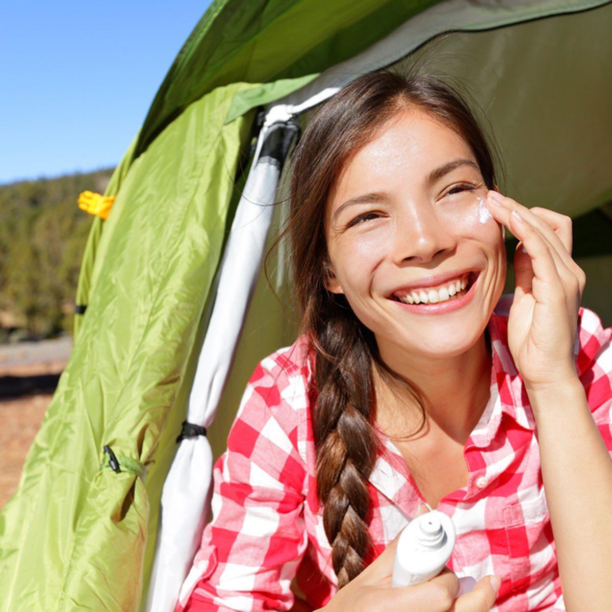 camping tent sunscreen