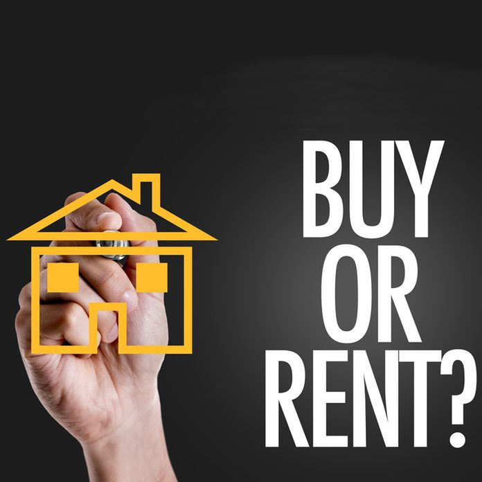 rent or buying a house