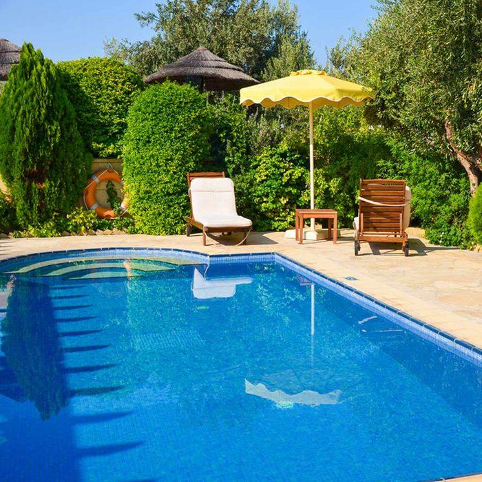 backyard pool patio