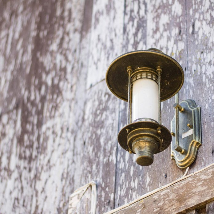 Brass outdoor light