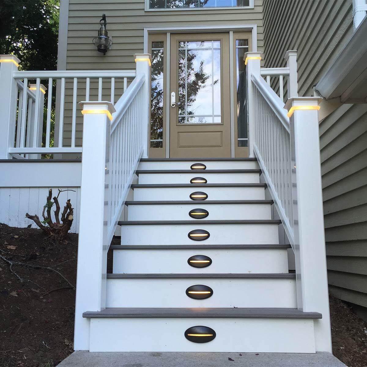 front porch step lights