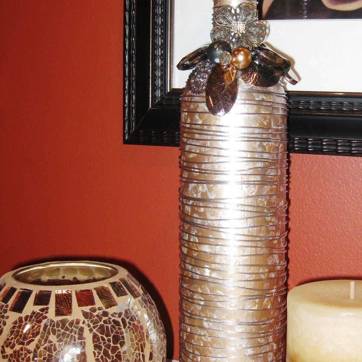 vase metallic paint