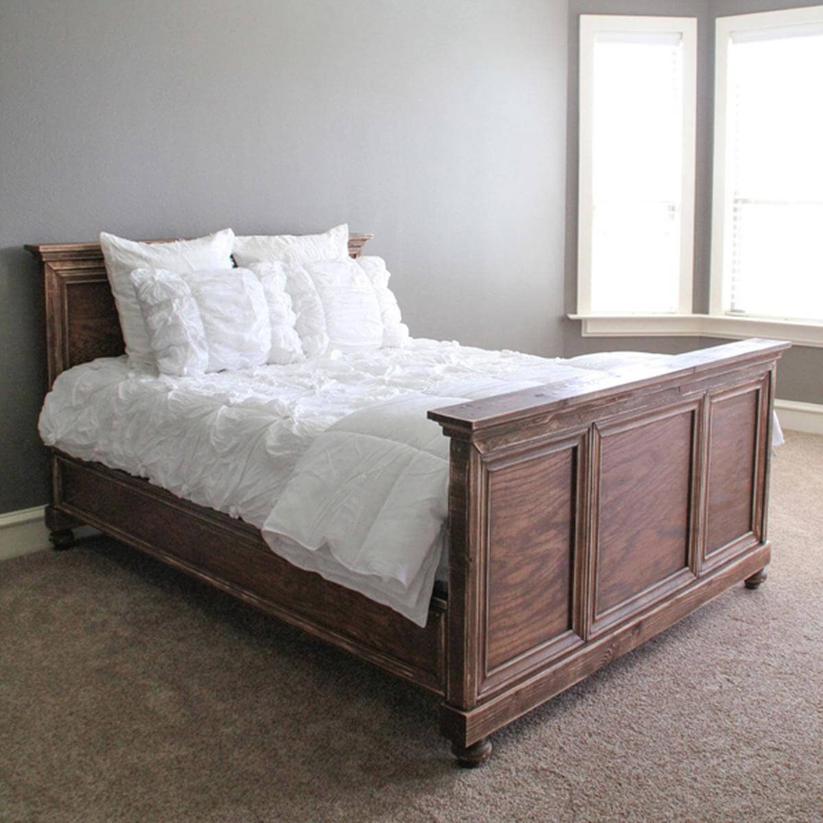 Plywood Bedframe Dressed Up with Molding