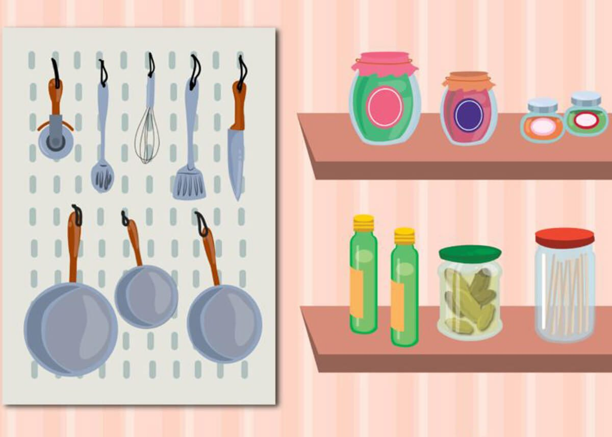 pegboard pantry organization