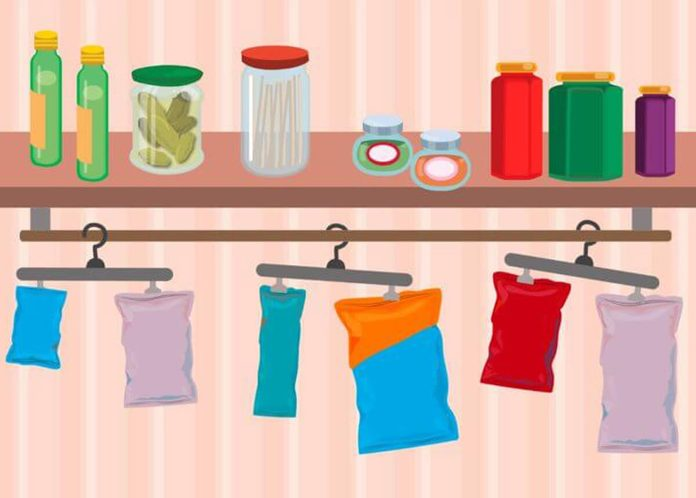 pantry organization clip and hang bags of food