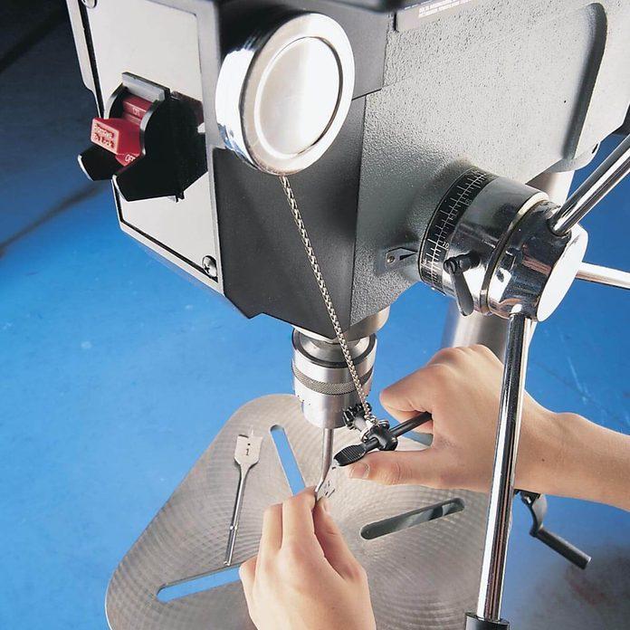 chuck key holder for drill press