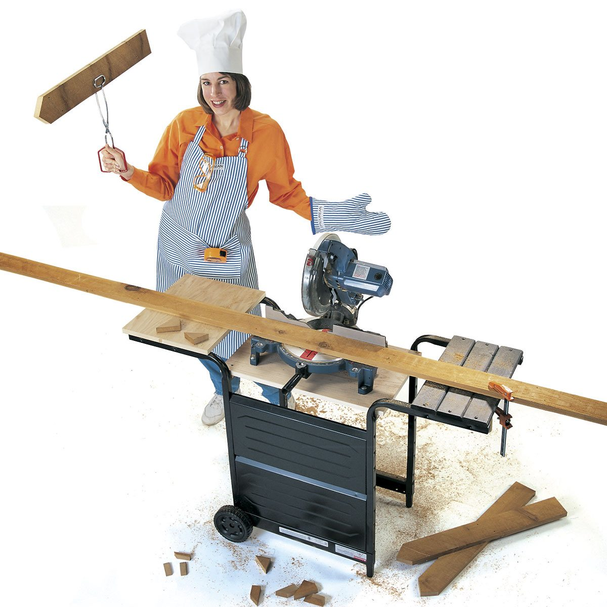 old grill miter saw stand