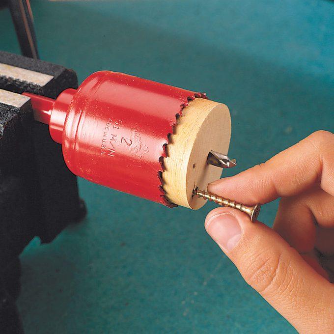 hole saw plug removal