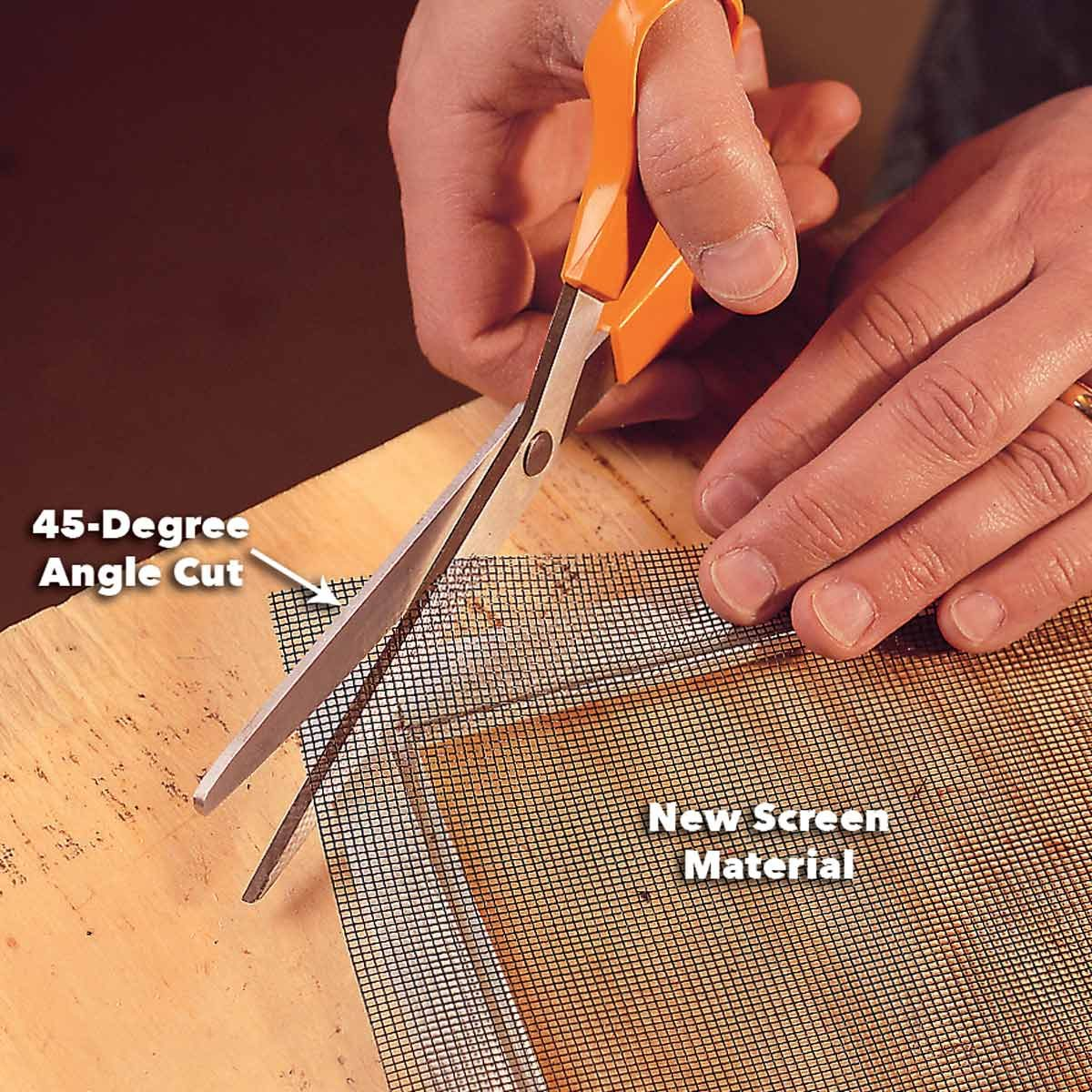 position new window screen repair