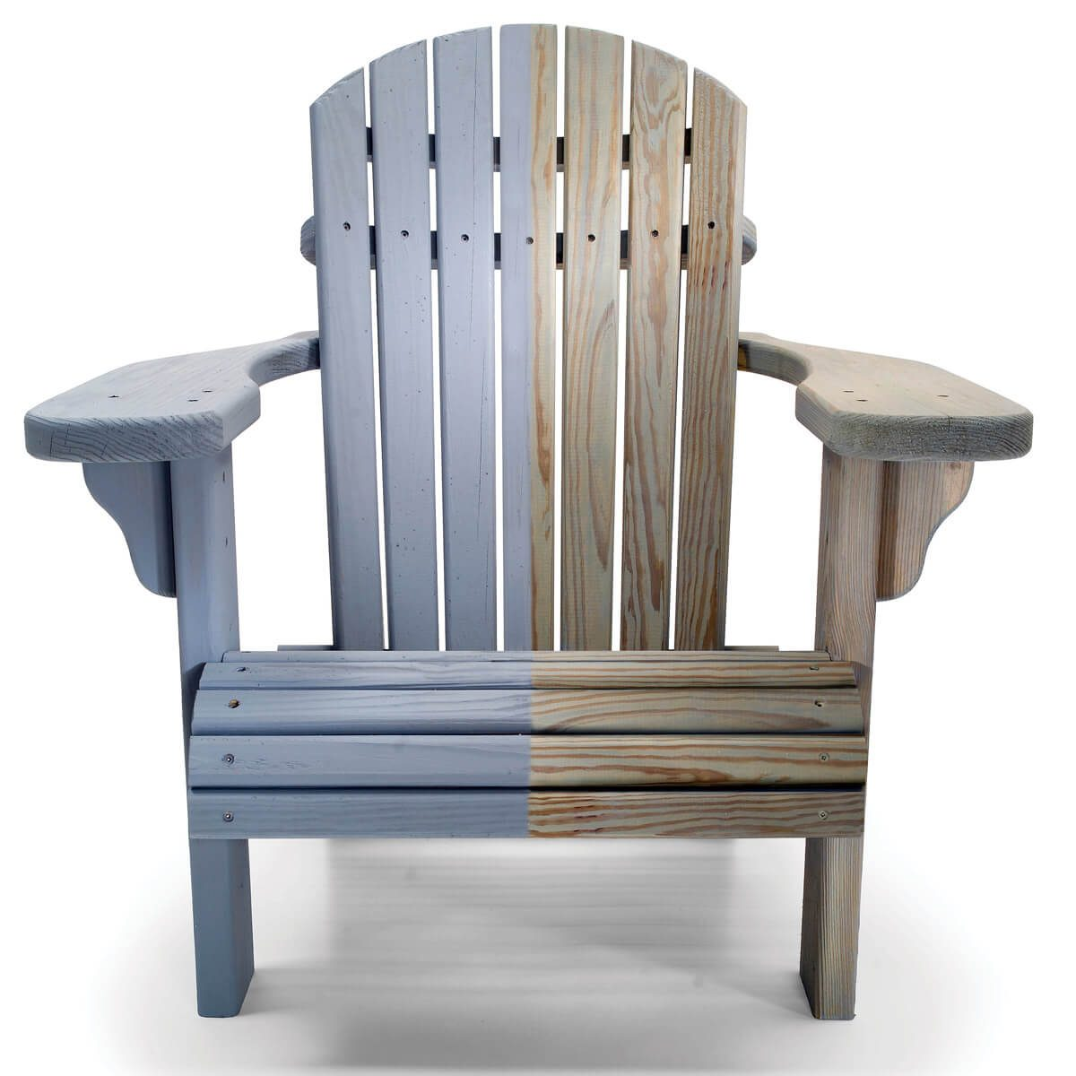 color treated wood chair