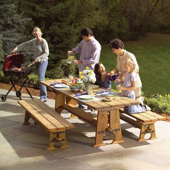 rock-solid outdoor picnic table